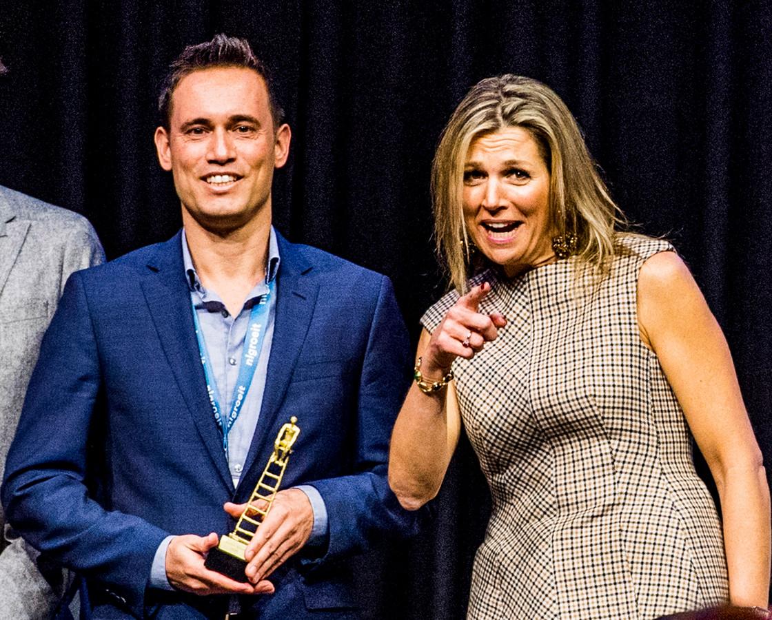 Jitse Groen, oprichter van thuisbezorgd.nl, ontving een paar jaar geleden uit handen van koningin Máxima de prijs de Gouden Groeier.
