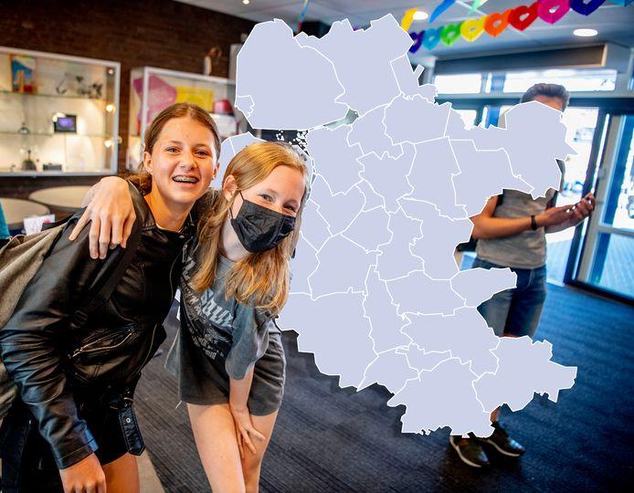 De coronakaart in Oost-Nederland kleurt vandaag volledig grijs.