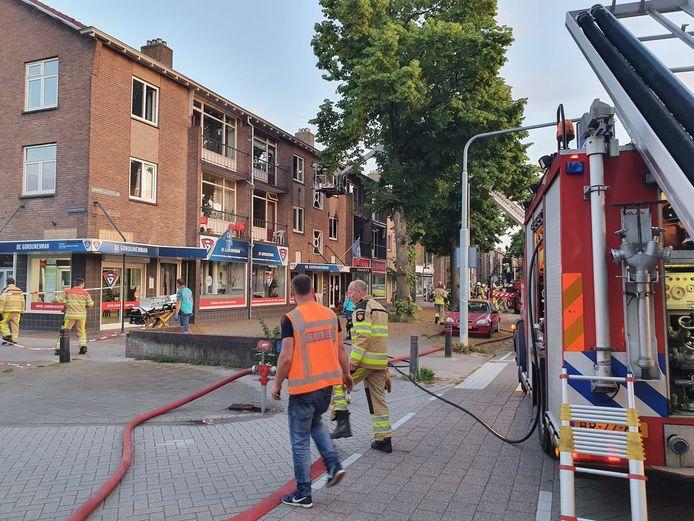 Brand in een flatgebouw in Deventer.