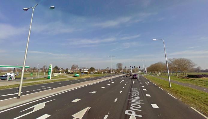 De kruising N201 bij Vreeland waar vorig jaar flitspalen zijn geplaatst.