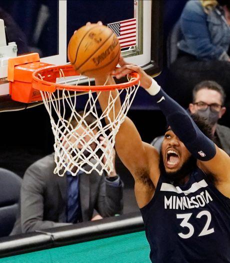 Minnesota Timberwolves weer te sterk voor Utah Jazz in NBA