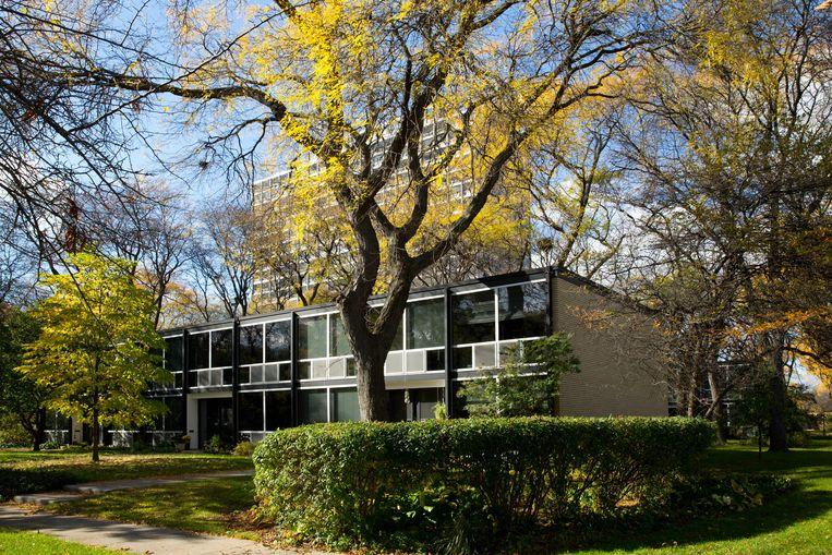Het Lafayette Park is vergeven van de Mies van der Rohe-gebouwen. Beeld Alamy Stock Photo