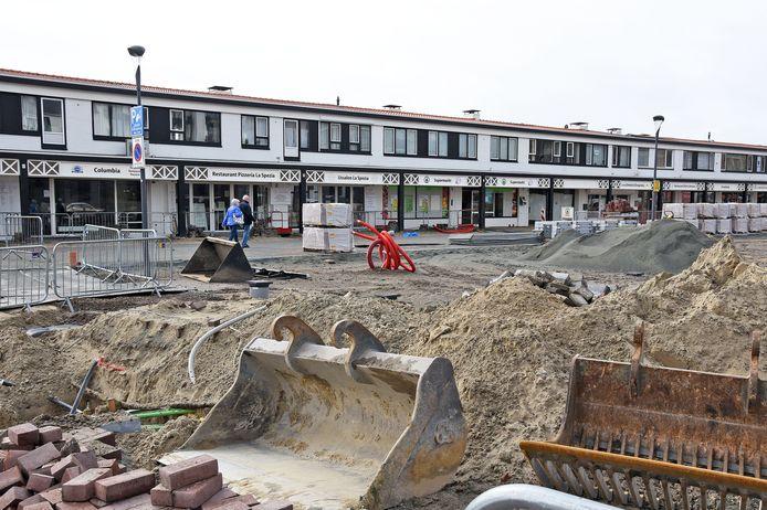 Het Duinplein in Cadzand-Bad een maandje geleden.