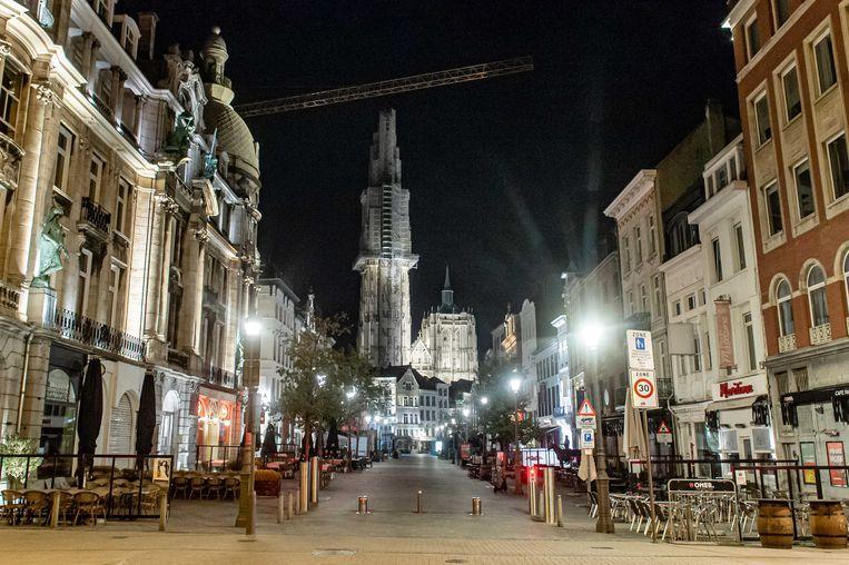Lege straten in Antwerpen. Beeld ANP