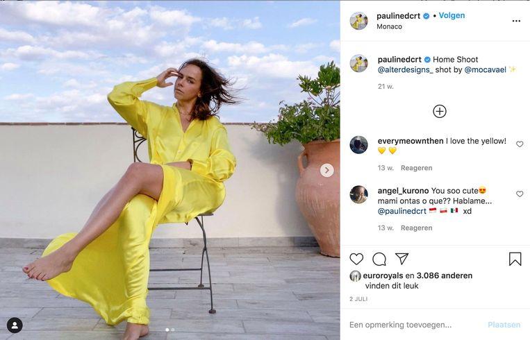 Pauline Ducruet. Beeld Instagram