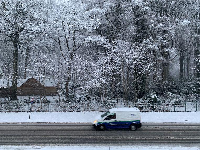Sneeuw in Brugge. Beeld Benny Proot