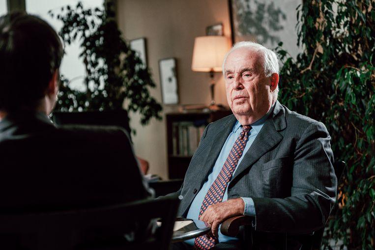 Maurice Lippens tijdens een interview voor deze krant.  Beeld Thomas Sweertvaegher