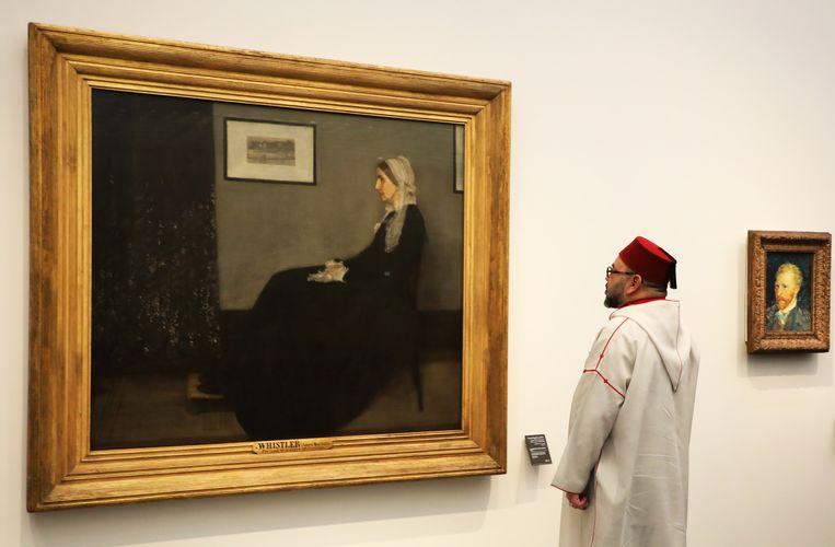 De Marokkaanse koning Mohammed VI bij de opening van het museum een jaar geleden. Beeld Pool/ABACA