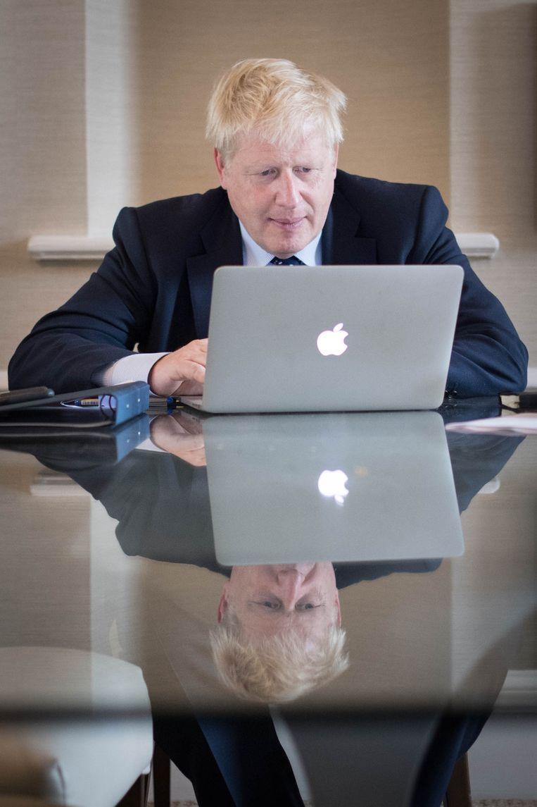 De Britse premier Boris Johnson. Beeld EPA