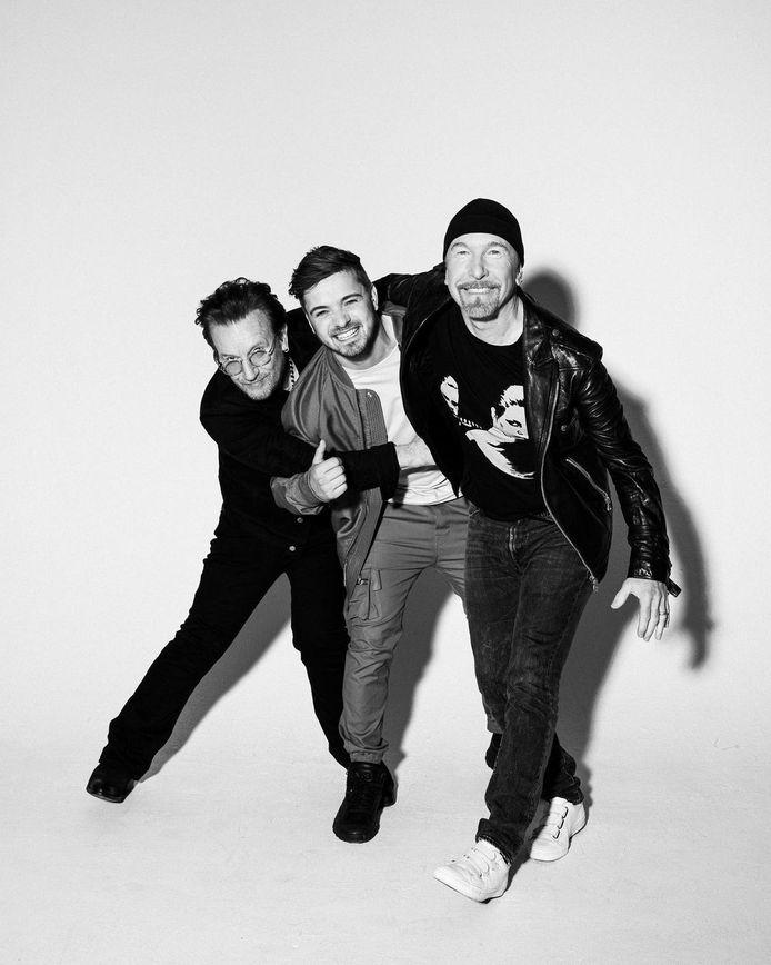 Bono, Martin Garrix et The Edge.