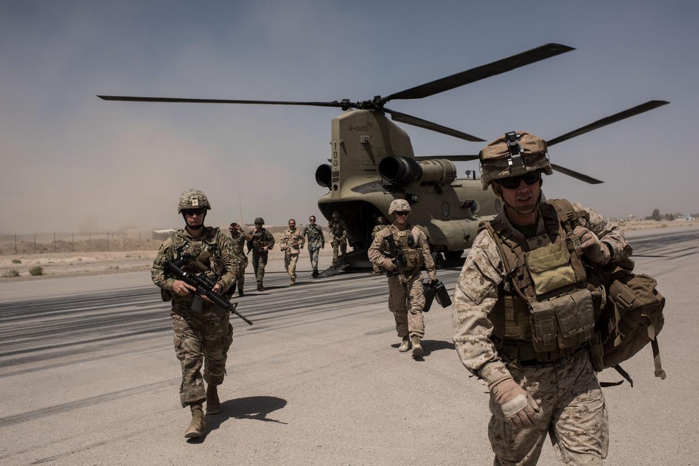 VS-militairen in Helmand in 2017. Er zijn nu nog 14.000 Amerikanen in Afghanistan.