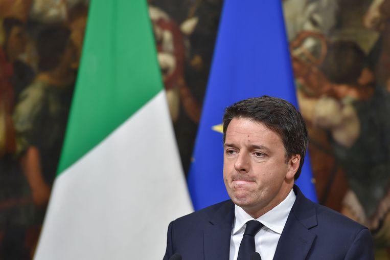 De Italiaanse premier Matteo Renzi. Beeld AFP
