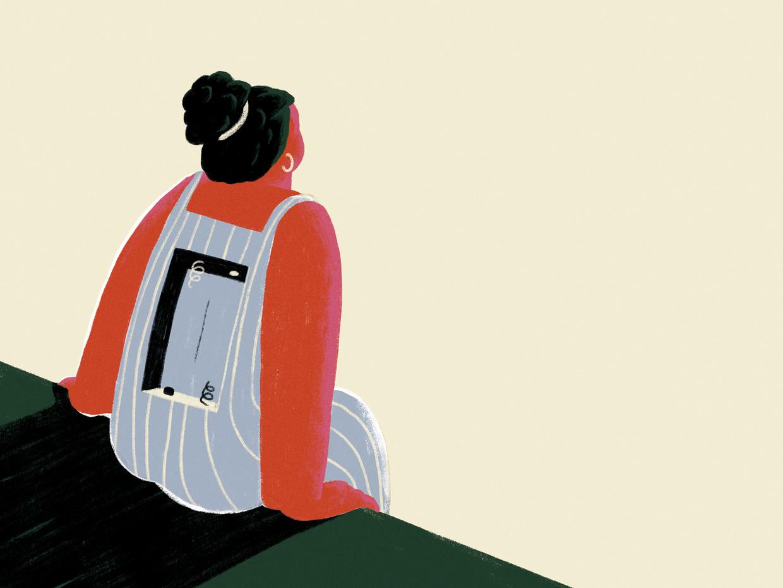 Inger Boxsem, auteur van 'Naar omstandigheden nogal slecht': 'Ik vond mijn man en kinderen niet meer leuk, Ik vond mijn werk niet meer leuk. 'Niet leuk' was het niet eens. ik vond vooral niks.'  Beeld Elise Vandeplancke