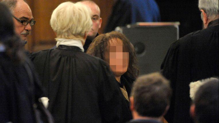 Malika El Aroud in het Hof van Beroep. Beeld PHOTO_NEWS