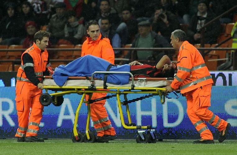 Thiago Silva moest afgevoerd worden. Beeld UNKNOWN