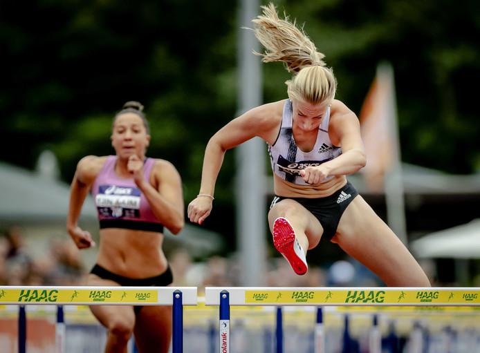 Eefje Boons in actie op het NK atletiek deze zomer.