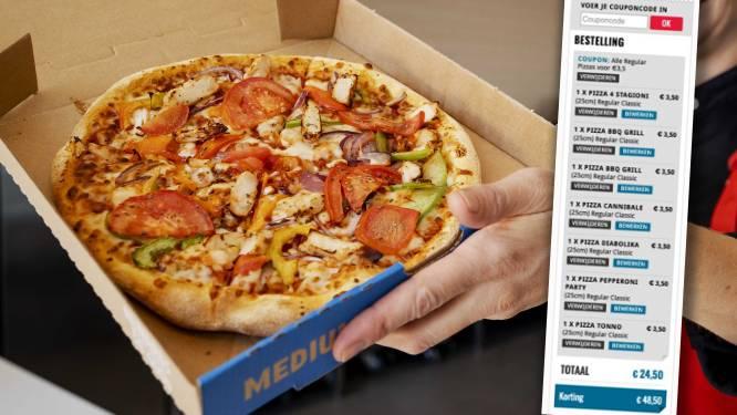 """PROMOJAGERS SUPERTIP. Keten stunt: """"Pizza kost nu maar 3,50 euro in plaats van 13,50 euro"""""""
