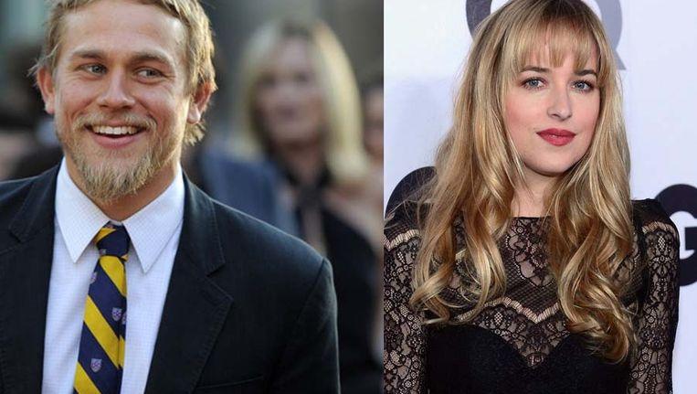 Charlie Hunnam en Dakota Johnson zullen de hoofdrollen in Fifty Shades of Grey op zich nemen. Beeld Getty
