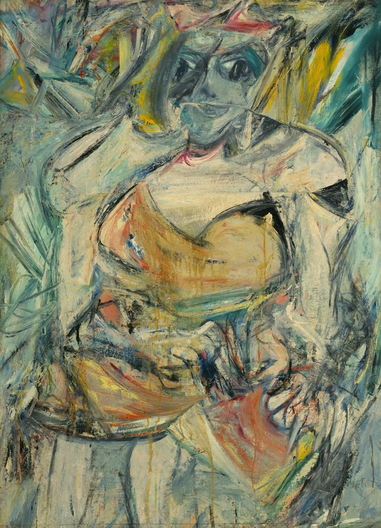 Het tweede schilderij in de reeks van Willem de Kooning: 'Woman II'. Beeld PHOTO_NEWS