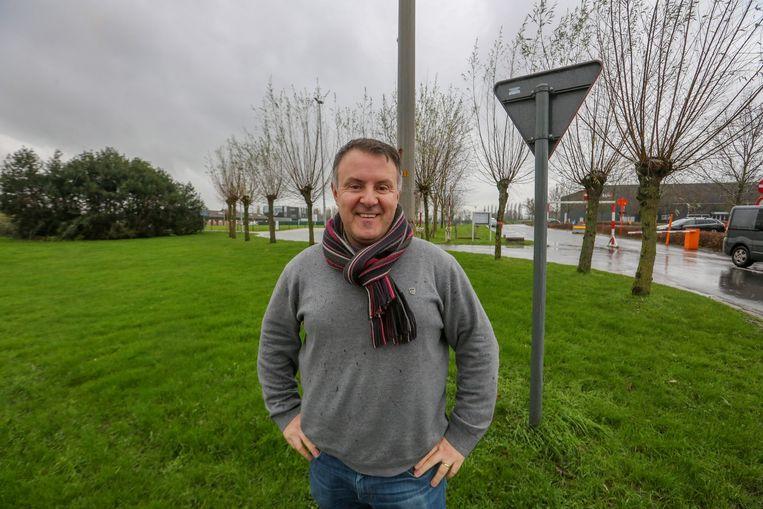 Expodirecteur Chris Baert op de plaats waar een viersterrenhotel komt, net naast Expo.