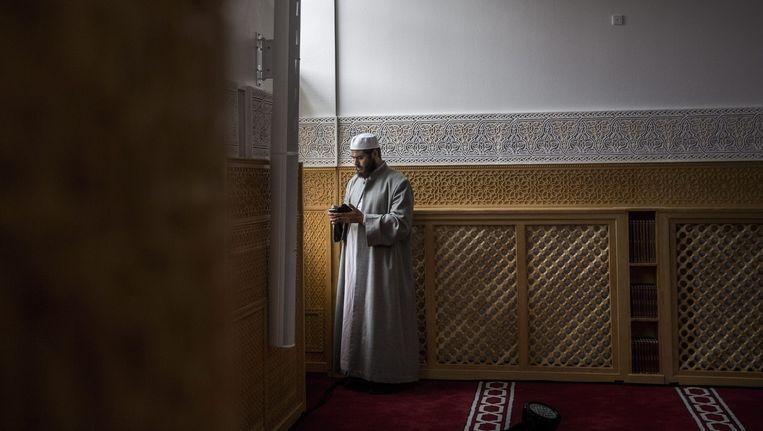 De grote moskee van Kopenhagen, waar Khankan zich niet thuis voelt. Beeld epa