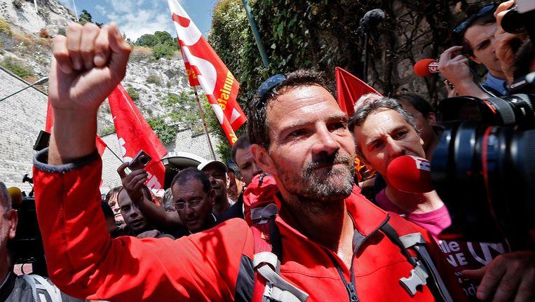 Jéröme Kerviel gaf zich in mei, na een bedevaart naar Rome, aan de Frans-Italiaanse grens over aan de Franse autoriteiten. Beeld REUTERS