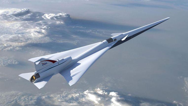 Het supersonische vliegtuig haalt snelheiden van 1.500 kilometer per uur. Beeld anp