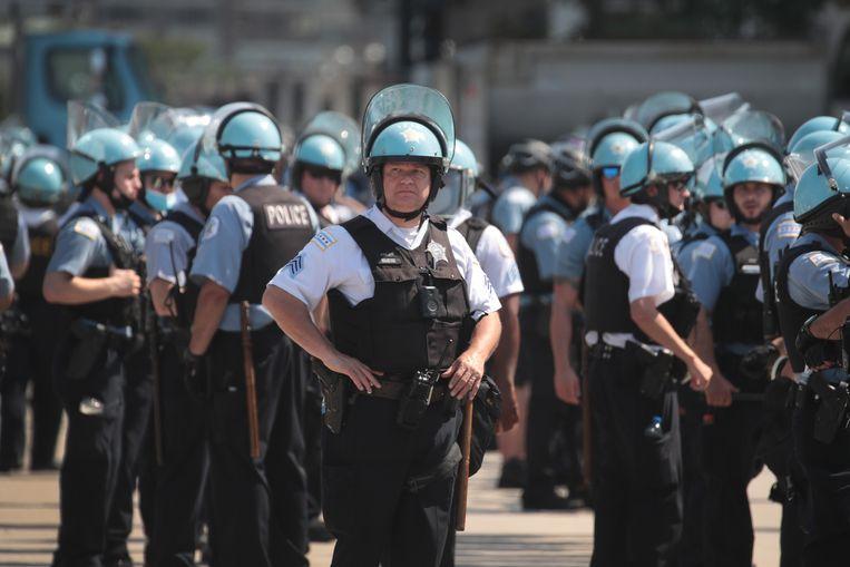 Politieagenten in Chicago. Beeld Getty Images