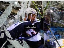 Plexi brisé: la célébration trop enthousiaste de ce hockeyeur hongrois