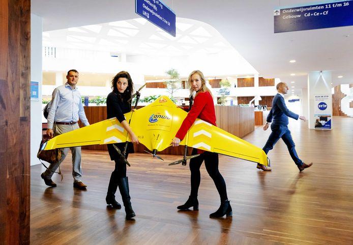 De medical drone van de ANWB tijdens de presentatie eind november.