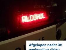 Onrustige stapavond in Bunschoten eindigt met boeteregen en aanhoudingen