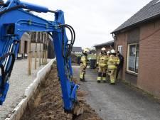 Gasleiding geraakt bij graafwerkzaamheden in Groessen