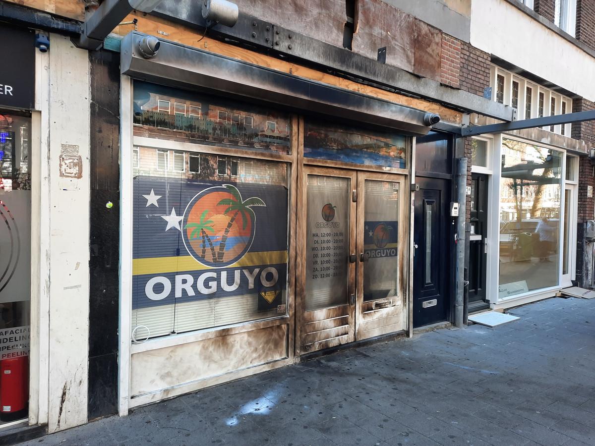Toko Orguyo aan de Groene Hilledijk is opnieuw het doelwit geweest van een aanslag.