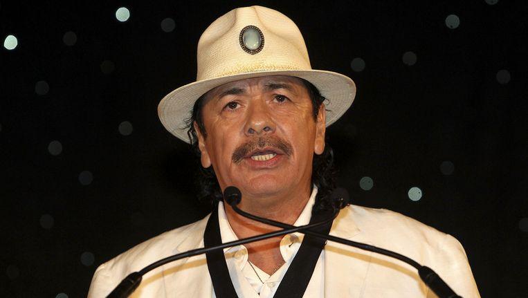Muzikant Carlos Santana Beeld