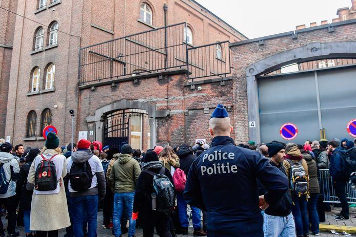 Het Klein Kasteeltje in Brussel, waar asielzoekers hun aanvraag kunnen indienen.
