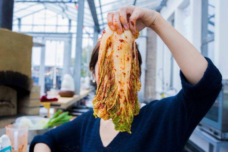 Koreaanse Kimchi in de maak Beeld Liz Kunst - Mediamatic