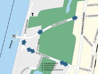 Proefopstelling met enkelrichting in Callebeekstraat en Scheldeboord