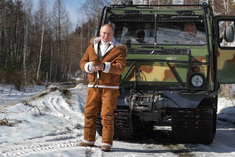 Vladimir Poetin in Siberië. Beeld AP