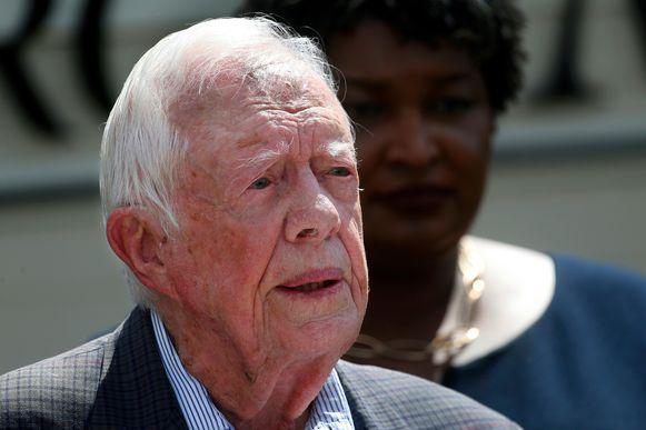 Amerikaans oud-president Jimmy Carter, foto uit maart 2018.