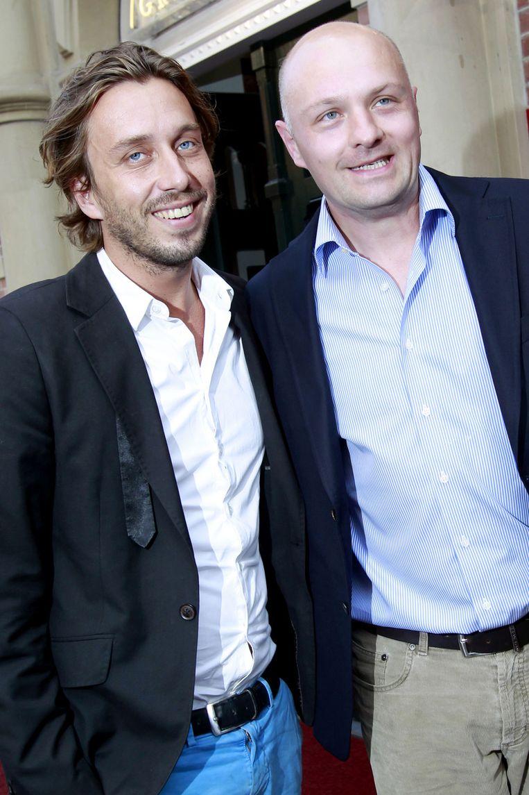Boris van der Ham (R) met partner. Beeld