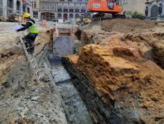 Opnieuw archeologische topvondst bij werken in Ieper: resten oude vleeshuis uit 13de eeuw blootgelegd
