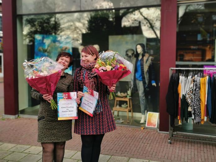 Marianne Slot (Tassche Mode) en Aiwa Froeling kregen de publieksprijs.