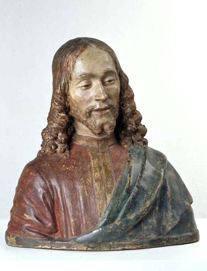 'Hoofd van Christus'. Uit het atelier van Andrea Verrocchio (c. 1435-1488). Ontdekt in depot van Museum Boijmans van Beuningen, Rotterdam. Ontdekking in jaren negentig van vorige eeuw.