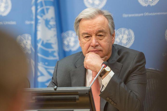 VN-baas Antonio Guterres.