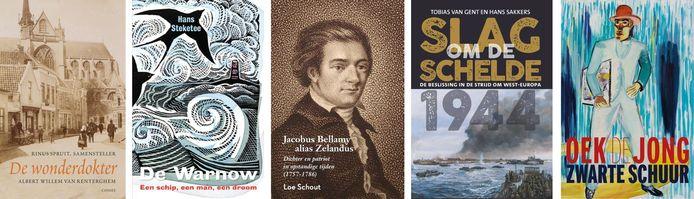 De vijf genomineerde boeken voor de Zeeuwse Boekenprijs 2020
