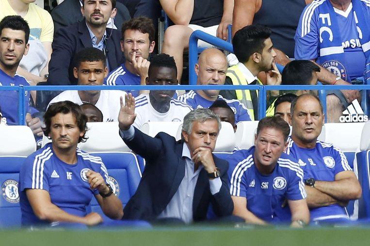 Mourinho baalt. Beeld AFP