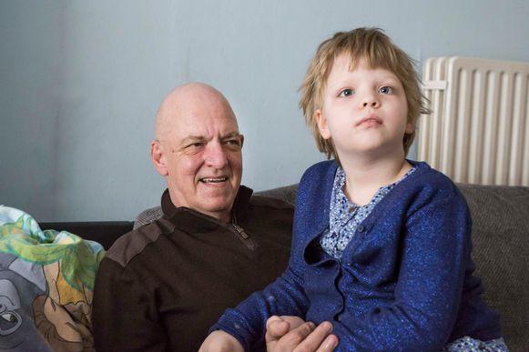 Papa Jean Pierre en dochtertje Sofie.