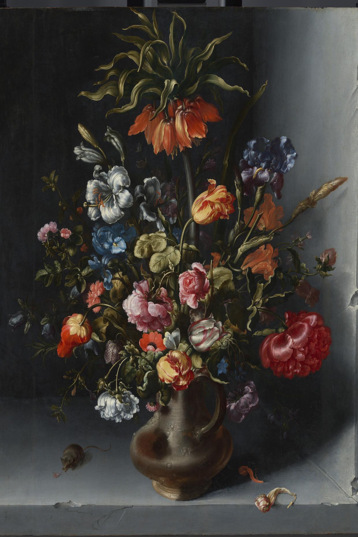 Jacob Woutersz Vosmaer, Stilleven met bloemen  in een stenen niche. Beeld Rijksmuseum Amsterdam