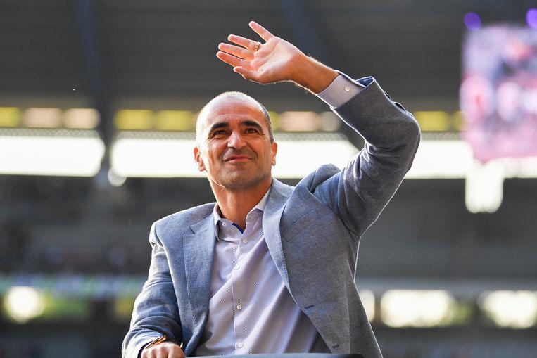 De bondscoach kreeg applaus voor zijn derde plek met de Rode Duivels op het WK in Rusland.