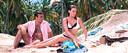 Sean Connery en Claudine Auger in James Bond: Thunderball.